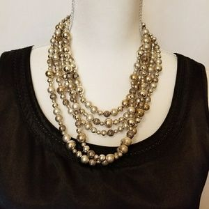 Chico's Silver beaded necklace.